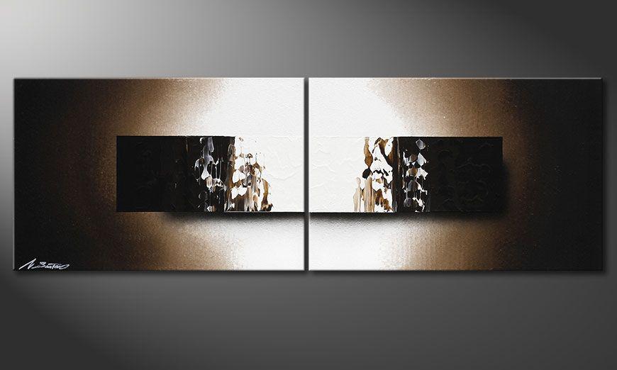 Obraz na blejtramie Light Rain 120x40x2cm