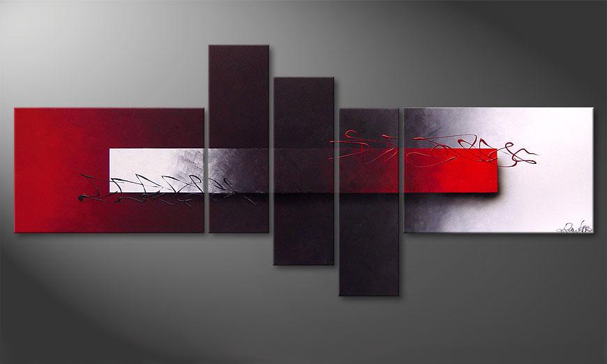 Opposites Attract 180x80x2cm nowoczesne obraz