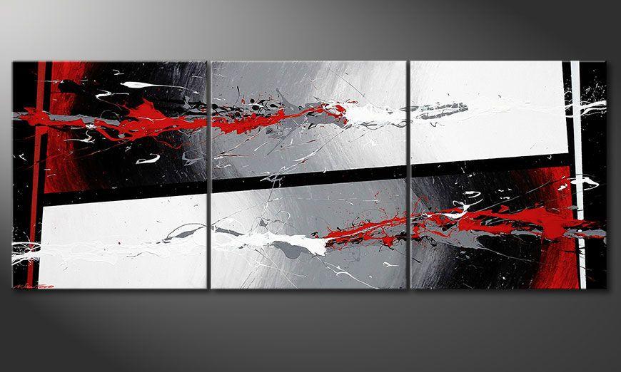 Powerful Contrast 180x70x2cm Obraz