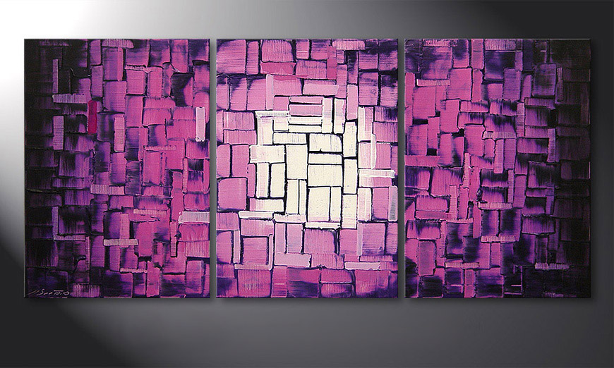 Purple Afterglow 150x70x2cm Obraz