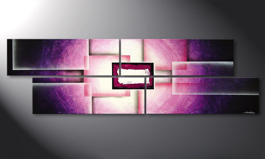 Purple Sun 200x60x2cm Obraz