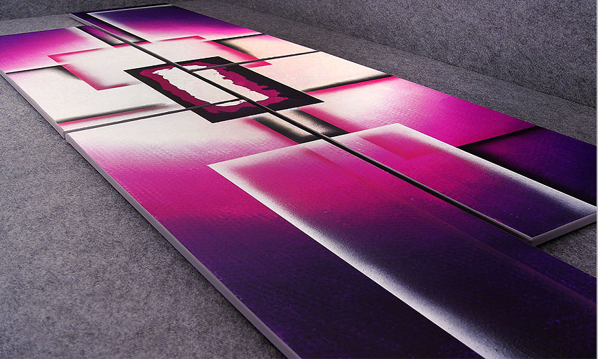 Purple Sun 250x80x2cm Obraz-XXL