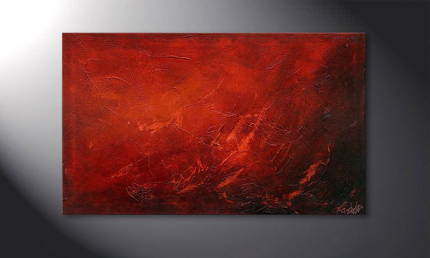 Red 100x60x2cm Obraz