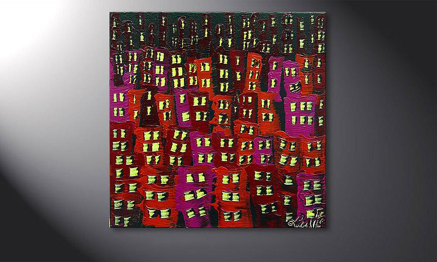 Red City 50x50x2cm Obraz