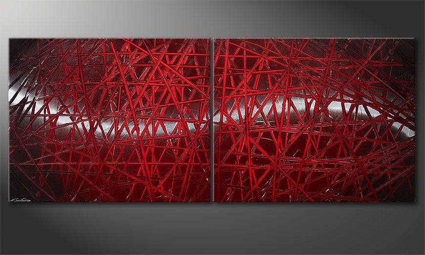 Red Push 200x80x2cm Obraz