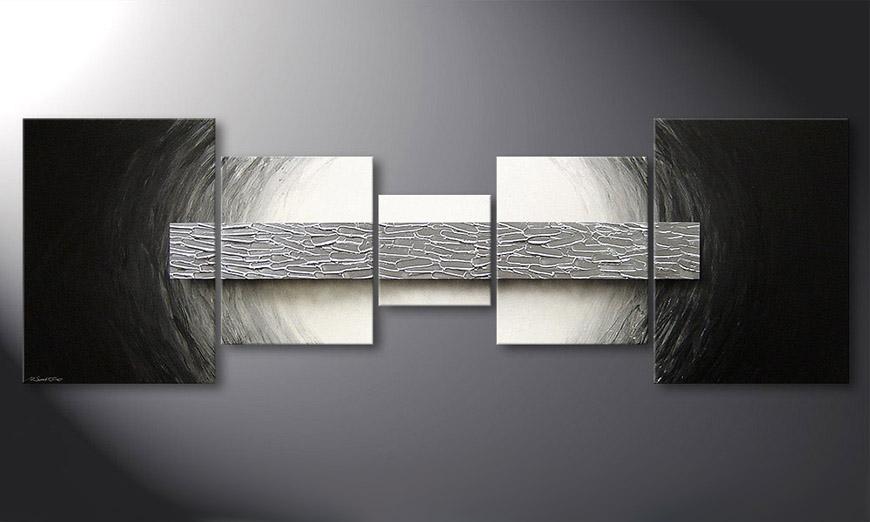 Silver Bar 210x70x2cm nowoczesne obraz