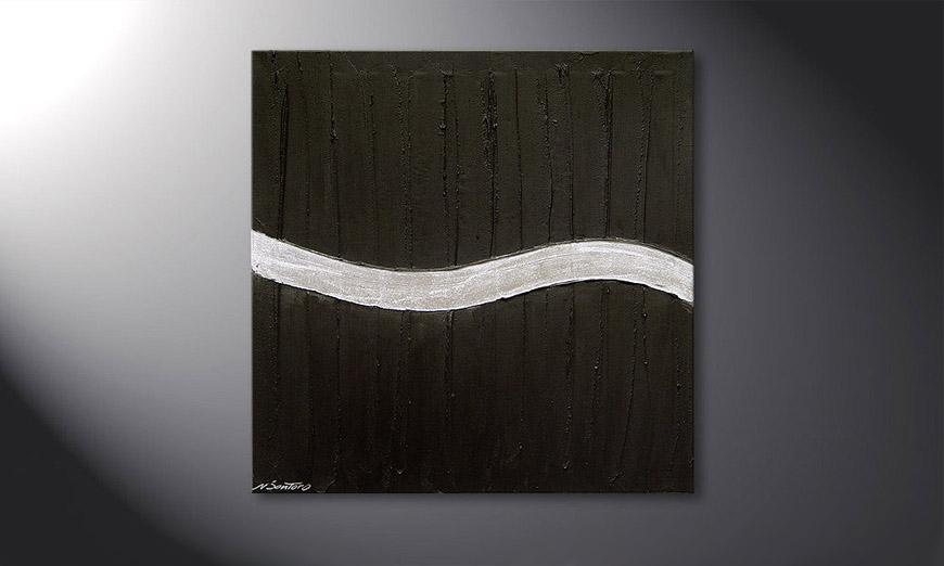 Silver Wave 80x80x2cm Obraz
