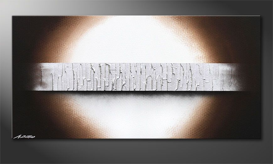 Silver Waves 120x60x2cm Obraz