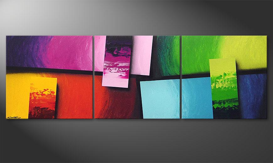 Squaring of Colors 210x70 Obraz