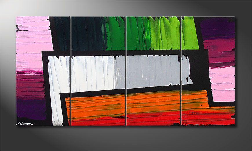 Structure of Colors 160x80x2cm Obraz
