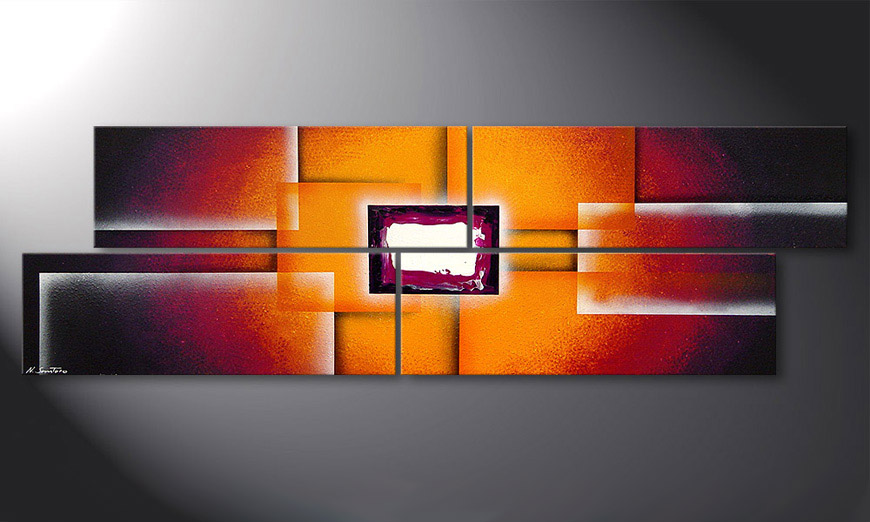 Sunrise Construction 200x60x2cm Obraz