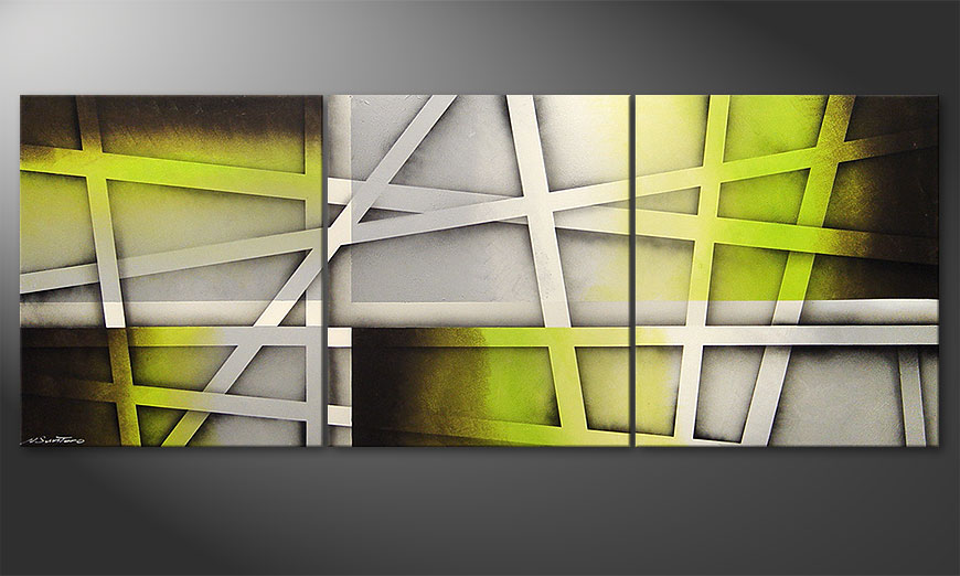 Vivid Green 180x70x2cm Obraz