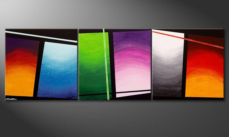 Wave of Colors 210x70x2cm Obraz
