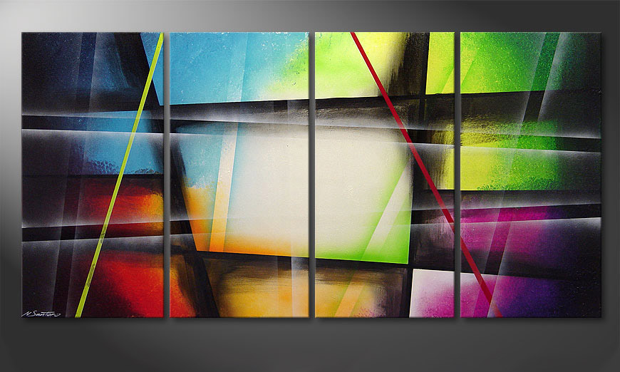 Window to Rainbow 160x80x2cm Obraz