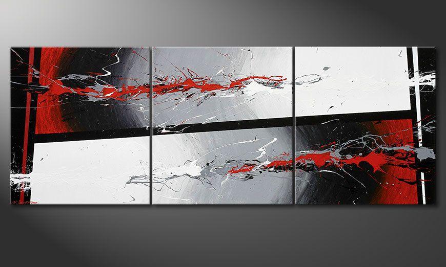 Współczesne obraz Powerful Contrast 240x90x2cm