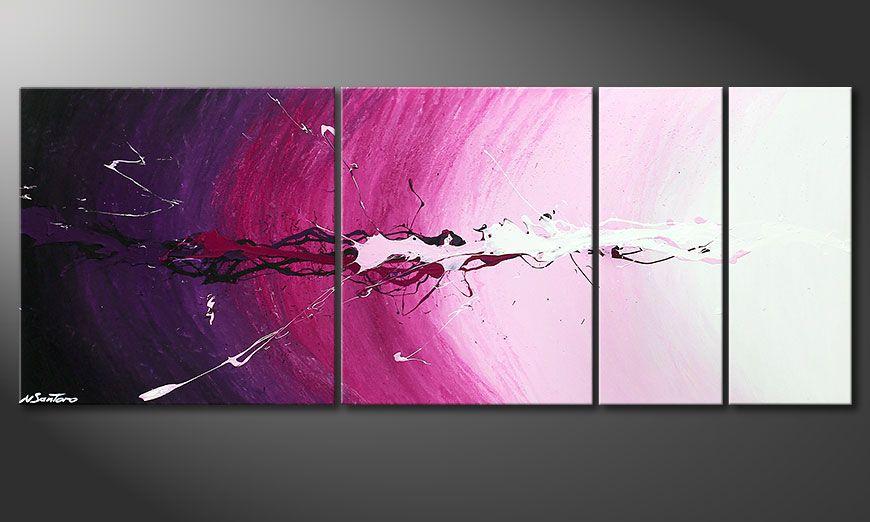 Nowoczesne obraz Cosmic Splash 130x50x2cm