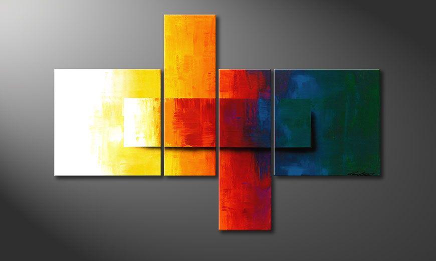 Nowoczesne obraz Rainbow Colors 120x80x2cm