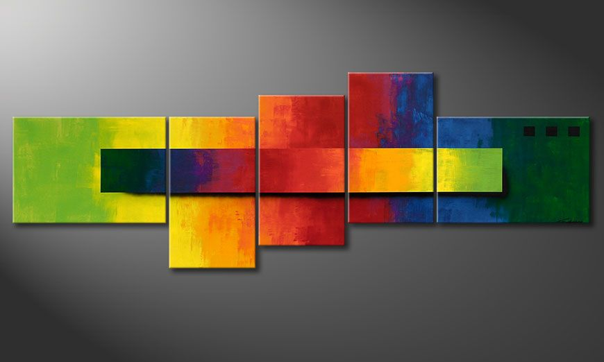 Obraz XXL Facets of a Rainbow 260x90x2cm