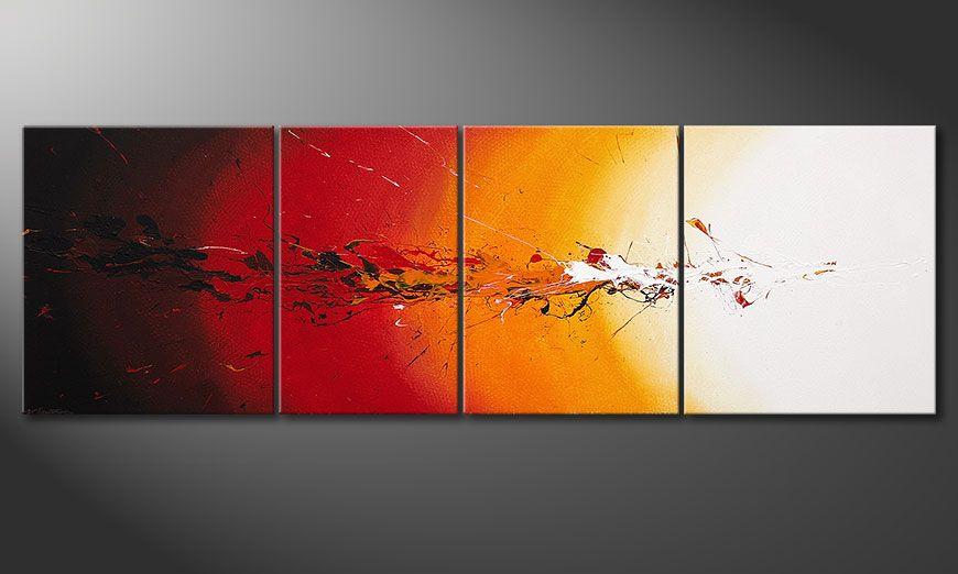Obraz XXL Fiery Splash 250x80x2cm
