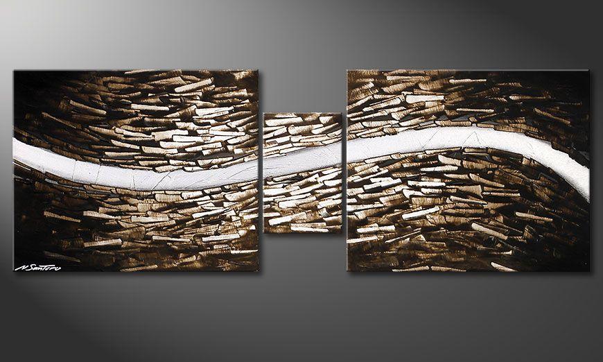 Obraz do salonu Clear River 140x50x2cm