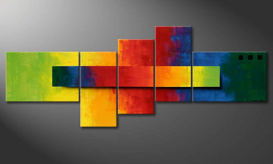 Obraz do salonu Facets of a Rainbow 160x60x2cm