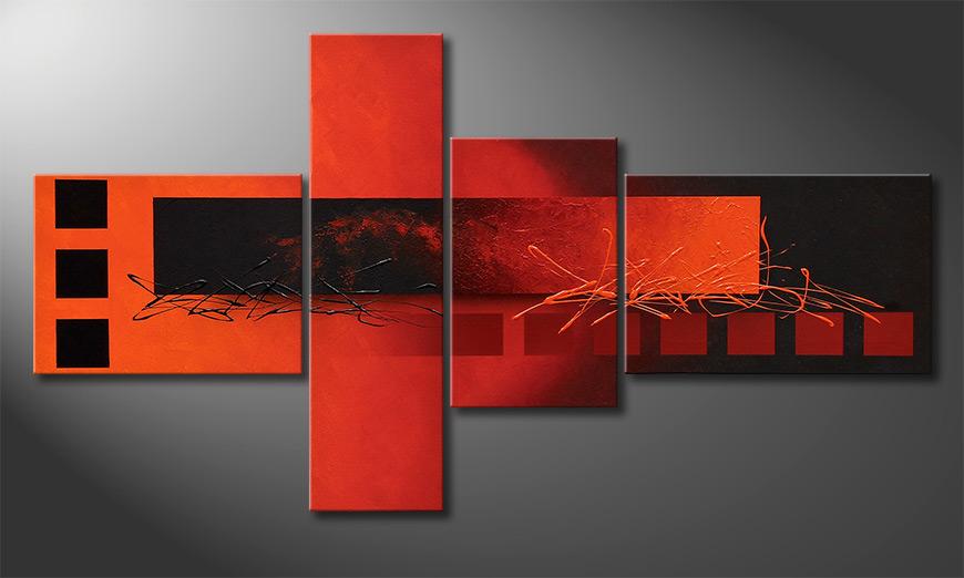 Obraz do salonu Fiery Emotions 130x70x2cm