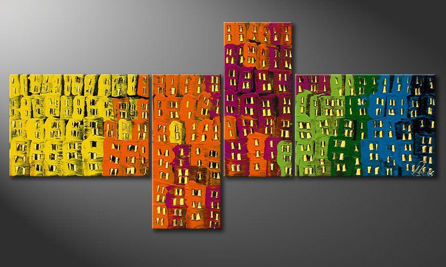 Obraz na blejtramie Crazy Town 120x60x2cm