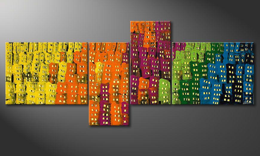 Obraz na blejtramie Crazy Town 240x100x2cm