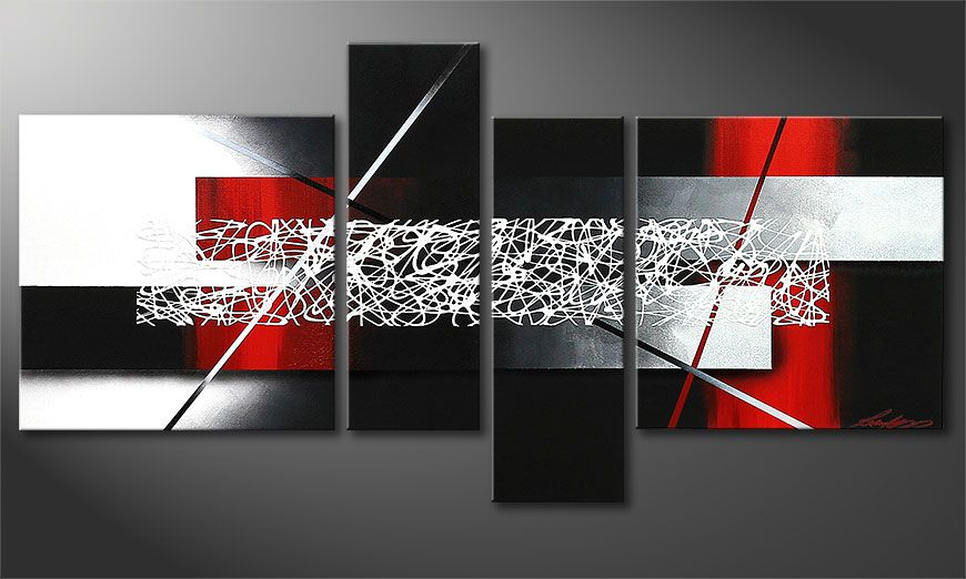 Obraz na blejtramie Sudden Inspiration 130x65x2cm