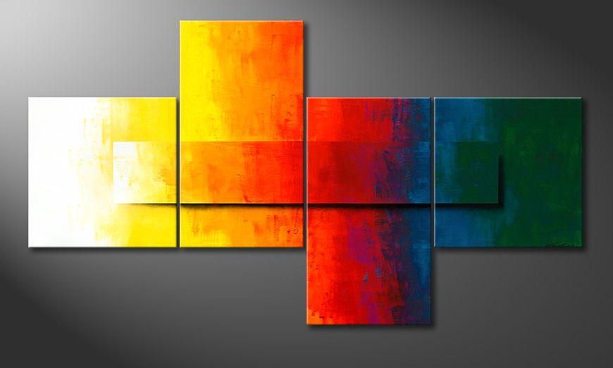 Współczesne obraz Rainbow Colors 220x120x2cm