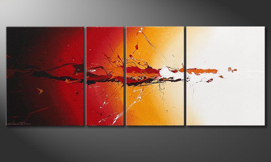 Wspó?czesne obraz Fiery Splash 130x50x2cm