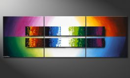 'Expression of Colours' 210x70cm obraz do salonu