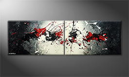 Obraz 'Blowing Contrast' 200x60cm
