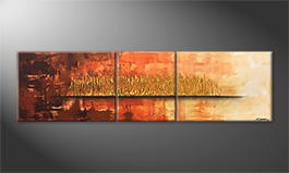 Obraz 'Golden Night' 210x60cm