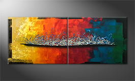 Obraz 'Rainbow Element' 200x80cm