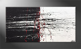 Obraz do salonu 'Black-White Battle' 140x70cm