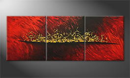 Obraz do salonu 'Brewed Gold' 180x70cm