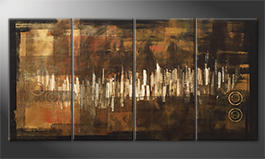 Obraz do salonu 'City Lights' 160x80cm