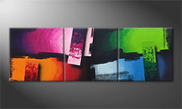 Obraz do salonu 'Color Clash' 210x70cm