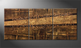 Obraz do salonu 'Copper Move' 180x80cm