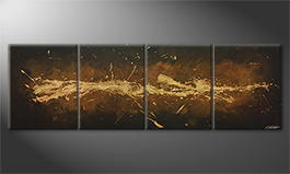 Obraz do salonu 'Earth Splash' 220x70cm
