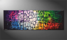 Obraz do salonu 'Expressive Colors' 210x70cm