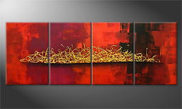 Obraz do salonu 'Glowing Harmony' 160x60cm