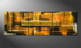 Obraz do salonu 'Golden Matrix' 210x70cm