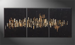 Obraz do salonu 'Golden Nights' 180x80cm