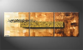 Obraz do salonu 'Golden Roses' 180x60cm