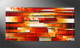 Obraz do salonu 'Lines Of Fire' 140x70cm