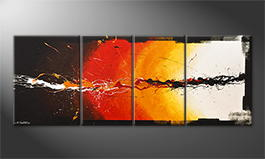 Obraz do salonu 'Liquid Fire' 180x70cm