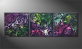 Obraz do salonu 'Night Of Roses' 180x60cm