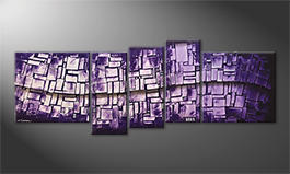 Obraz do salonu 'Purple Stones' 210x80cm